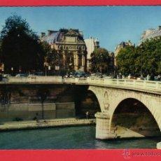 Postales: 487 FRANCIA, FRANCE, PARIS, DE LA SEINE, LA FONTAINE DE LA PALACE ST-MICHEL. Lote 54598667