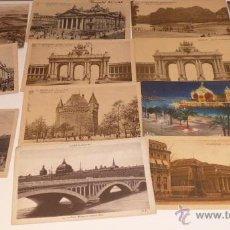 Postales: LOTE 13 POSTALES ANTIGUAS DE BRUSELAS, Y ALGUNAS DE FRANCIA. AÑOS 20. Lote 54637651