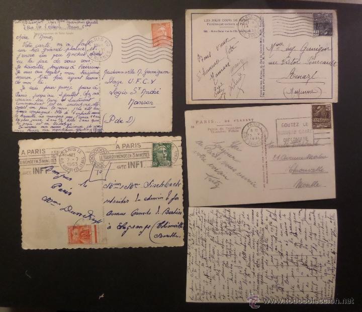 Postales: Lote de 10 antiguas postales de Paris de los años 30, 40, 50. Ver fotografias - Foto 2 - 54769353