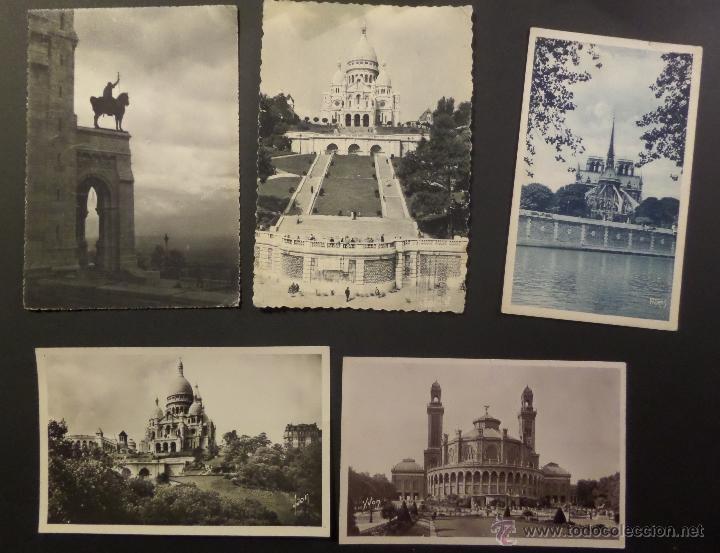 Postales: Lote de 10 antiguas postales de Paris de los años 30, 40, 50. Ver fotografias - Foto 3 - 54769353
