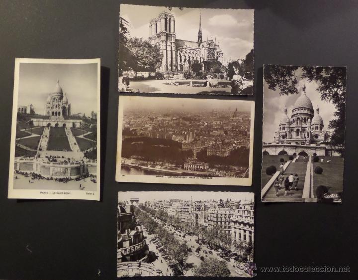 Postales: Lote de 10 antiguas postales de Paris de los años 30, 40, 50. Ver fotografias - Foto 4 - 54769353
