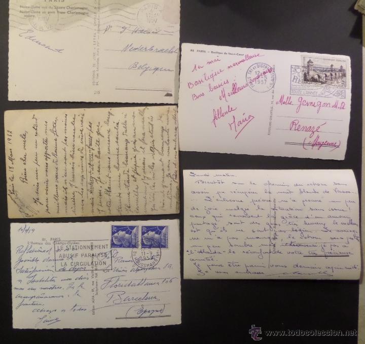 Postales: Lote de 10 antiguas postales de Paris de los años 30, 40, 50. Ver fotografias - Foto 5 - 54769353