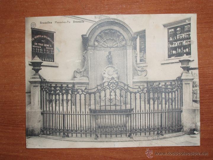 ANTIGUA FOTO POSTAL, GRAN FORMATO 17,5*13,5 CM. DE BRUXELLES. SIN CIRCULAR. (Postales - Postales Extranjero - Europa)
