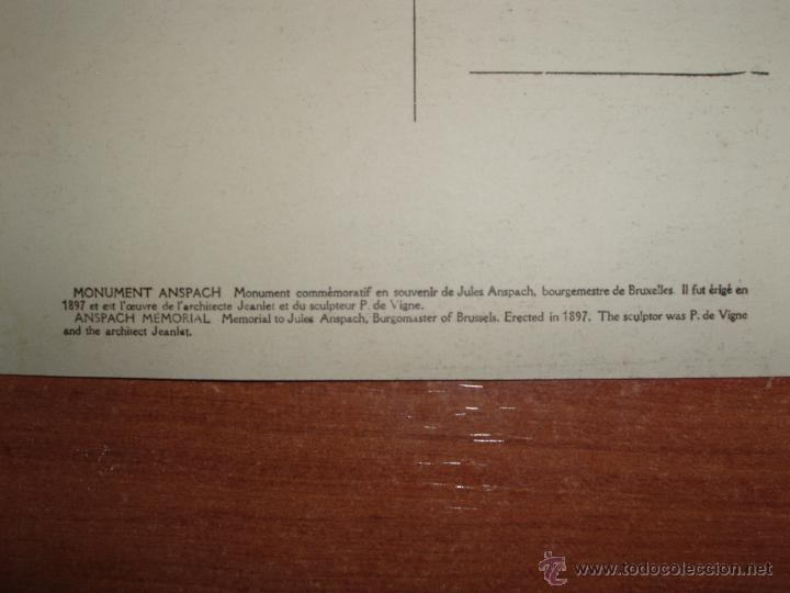 Postales: ANTIGUA FOTO POSTAL, GRAN FORMATO 17,5*13,5 CM. DE BRUXELLES. SIN CIRCULAR. - Foto 3 - 54809851