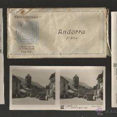 Postales: ANDORRA-COLECCION 15 FOTOGRAFIAS ESTEREOSCOPICAS RELLEV CON FUNDA-MIDEN 6 X 13 CM-VER FOTOS-(V-4714). Lote 55032516