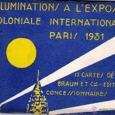 Postales: 12 CARTES L`EXPOSITION COLONIALE PARIS 1931. Lote 55061637