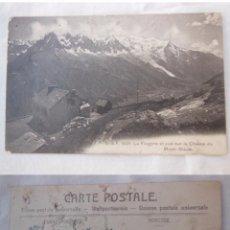 Postales: ANTIGUA POSTAL : LA FLÉGÈRE ET VUE SUR LA CHAINE DU MONT BLANC.. Lote 56267878