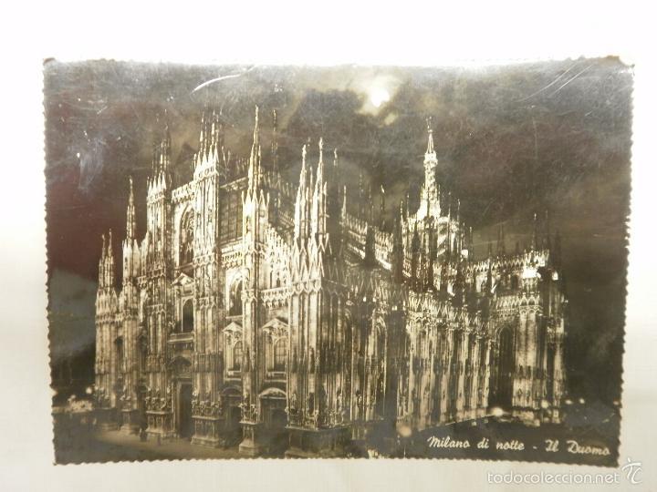 POSTA DE MILAN. IL DUOMO DE NOCHE. AÑOS 50 (Postales - Postales Extranjero - Europa)