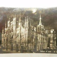 Postales: POSTA DE MILAN. IL DUOMO DE NOCHE. AÑOS 50. Lote 56369868