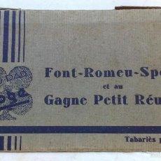 Postales: ANTIGUO ALBUM DE 12 POSTALES FONT ROMEU SPORT. EN BLANCO Y NEGRO. Lote 56585800