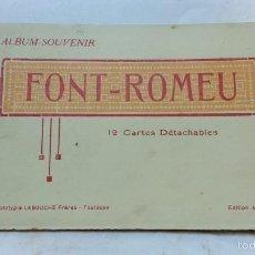 Postales: ANTIGUO ALBUM - SOUVENIR FONT ROMEU. 12 POSTALES EN BLANCO Y NEGRO.. Lote 56585819