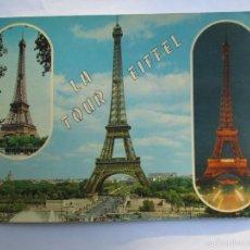 Postales: LA TOUR EIFFEL PARIS ET SES MERVEILLES. Lote 56643527