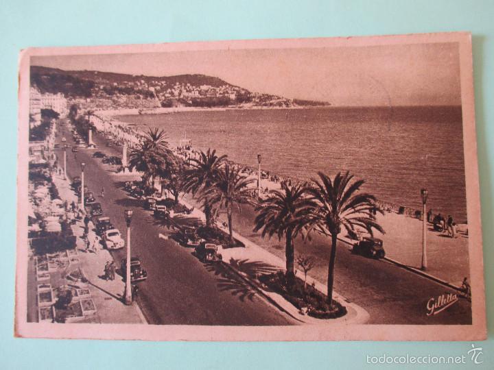 1155 FRANCIA FRANCE ALPES MARITIMES NIZA NICE LA PROMENADE DES ANGLAIS 1952 (Postales - Postales Extranjero - Europa)