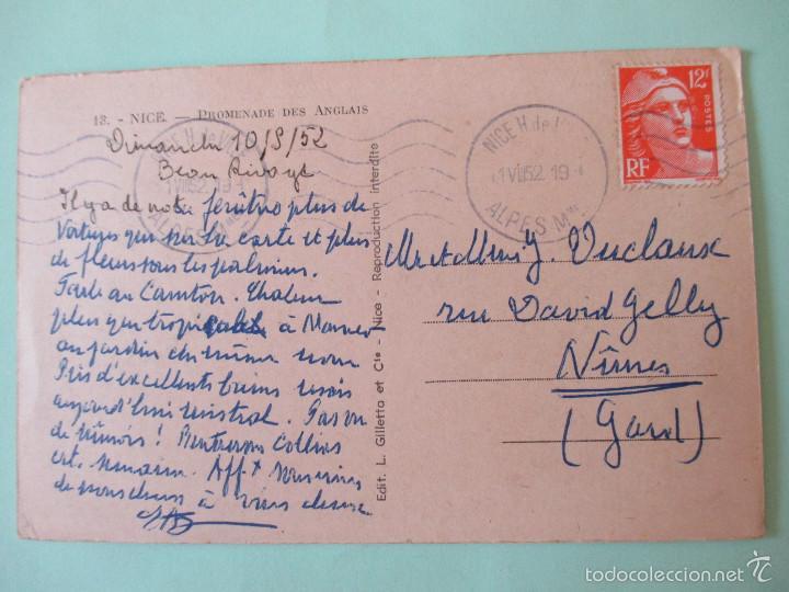 Postales: 1155 Francia France Alpes Maritimes Niza Nice La Promenade des Anglais 1952 - Foto 2 - 56728484