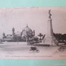Postales: 1156 FRANCIA FRANCE ALPES MARITIMES NIZA NICE LE MONUMENT DU CENTENAIRE ET LE PALAIS DE LA JETÉE PRO. Lote 56728519