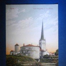 Postales: POSTAL - EUROPA - ESTONIA - TALLIN - REVAL - DICHÉ MARGARETE OLAI KIRCHE - ESCRITA 1913 -. Lote 56961539