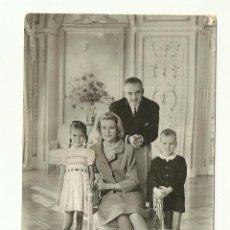Postales: FOTOGRAFÍA DE LA FAMILIA REAL DE MÓNACO, AÑO 1962-63, POSTAL 0314. Lote 56967664