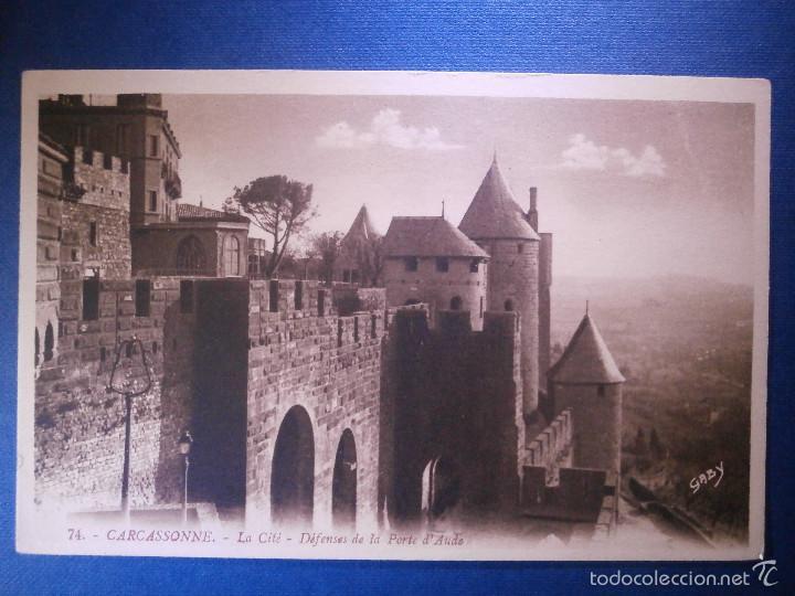 POSTAL - EUROPA - FRANCIA - 74 CARCASSONNE - LA CITÉ - DEFENSES DE LA PORTE D´AUDE - GABY - (Postales - Postales Extranjero - Europa)