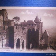 Postales: POSTAL - EUROPA - FRANCIA - 74 CARCASSONNE - LA CITÉ - DEFENSES DE LA PORTE D´AUDE - GABY - . Lote 56970180