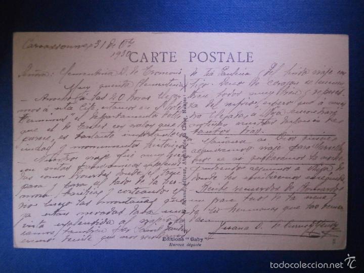 Postales: POSTAL - EUROPA - FRANCIA - 74 Carcassonne - La Cité - Defenses de la porte D´Aude - Gaby - - Foto 2 - 56970180