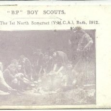 Postales: (PS-48530)POSTAL B.P. BOY SCOUTS CAMPERS OF THE SOMERSET(Y.M.C.A.),BATH,1912.. Lote 57085396