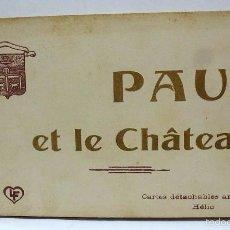 Postales: LIBRETO CON MAS DE 50 VISTAS POSTAL FOTOGRAFICA DE PAU ET LE CHATEAU COMPLETO. Lote 57205399