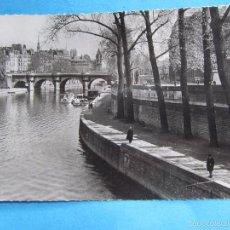 Postales: POSTAL PROPAGANDA , BRONCHOCILLINE , PARIS , LES PECHEURS SUR LES QUAIS , CIRCULADA. Lote 57305343