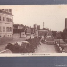 Postales: TARJETA POSTAL DE GIBRALTAR - WAR MEMORIAL AND BOULEVARD. BENZAQUEN & CO.. Lote 57337454
