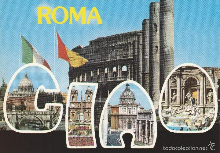ROMA - CIAO - DIVERSAS FOTOS - ED. PLURIGRAF - KODAK EKTACHROME - Nº 649 - NUEVA (Postales - Postales Extranjero - Europa)