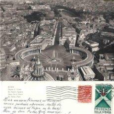 Postales: ROMA. PIAZZA S. PIETRO. CIRCULADA. PRUDENZA SULLA STRADA. Lote 57461719