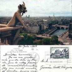 Postales: PARIS. LE DIABLE VU DES TOURS DE NOTRE DAME. 1956. Lote 57491929
