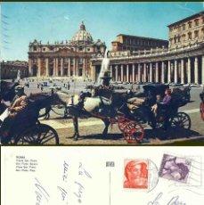 Postales: ROMA. PIAZZA SAN PEDRO. CIRCULADA. Lote 57491972