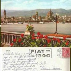 Postales: RIRENZE. PENORAME. AUSSICHE. CIRCULACA. MARCA. FIAT 1800. 1959. Lote 57492363