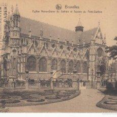 Postales: CIRCULADA A ESPAÑA EN 1925. BRUSELAS. IGLESIA DE NUESTRA SEÑORA DEL SABLON.. Lote 57510701