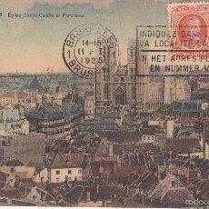 Postales: CIRCULADA A ESPAÑA EN 1925. BRUSELAS. VISTA PANORÁMICA.. Lote 57510737