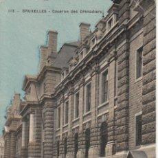 Postales: CIRCULADA A ESPAÑA EN 1911. BRUSELAS. CUARTEL DE GRANADEROS.. Lote 57510879