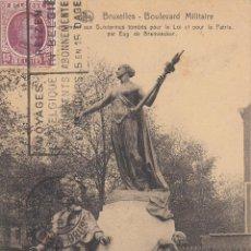 Postales: CIRCULADA A ESPAÑA EN 1925. BRUSELAS. MONUMENTO A LOS GENDARMES MUERTOS POR LA LEY Y LA PATRIA.. Lote 57510928
