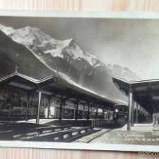 Postales: POSTAL 4 CHAMONIX. GARE P.L.M. ET LE MT. BLANC; CARTE POSTALE V FOTOS. Lote 57530336
