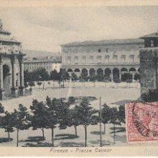 Postales: CIRCULADA A ESPAÑA EN 1925. FLORENCIA, PLAZA CAVUR.. Lote 57543727