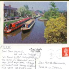 Postales: MARPLE CHESHIRE THE LOCKS PEAKS FOREST CANAL 1993. Lote 57628074