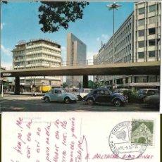 Postales: DÜSSEELDORF. AUTO HOCHSTRABE MIT THYSEN HOCHHAUS. 1967. Lote 57628147