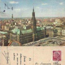 Postales: HAMBURG. RATHAUS UND RATHAUSMARKT 1958. Lote 57628207