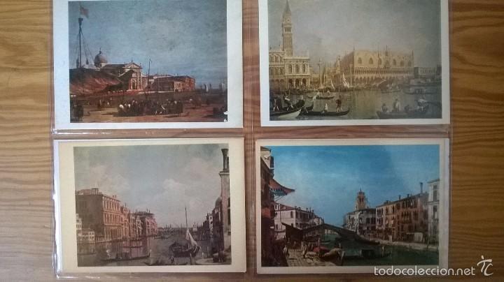 Postales: VENECIA: LOTE DE 12 POSTALES DE PINTORES DEL s. XVIII - Foto 3 - 57689128