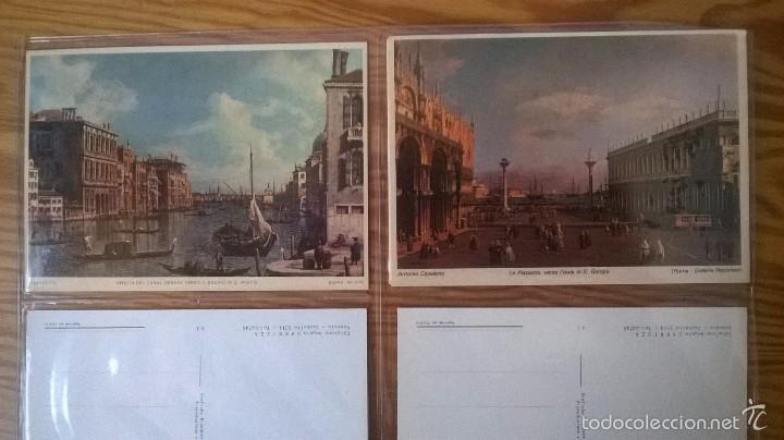 Postales: VENECIA: LOTE DE 12 POSTALES DE PINTORES DEL s. XVIII - Foto 4 - 57689128