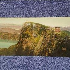 Postales: TARJETA POSTAL ALARGADA. SUIZA. 6251. MONTE GENEROSO. VISTA SUL LAGO DI LUGANO E MONTE ROSA. Lote 57919860