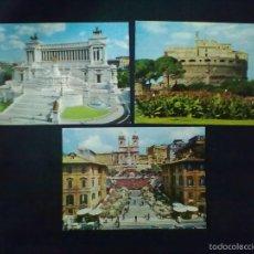 Postales: ROMA TRES POSTALES. Lote 58011406