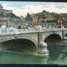 Postales: TORINO - TURÍN PONTE UMBERTO, POSTAL CIRCULADA DEL AÑO 1908. VER FOTO DEL REVERSO. Lote 58072197