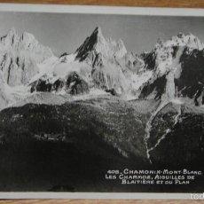 Postales: CHAMONIX MONT BLANC FRANCIA. Lote 58280633