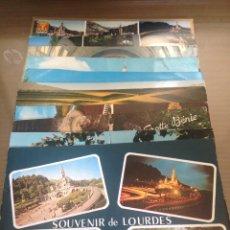 Postales: LOTE POSTALES ANTIGUAS LOURDES FRANCIA. Lote 58333038