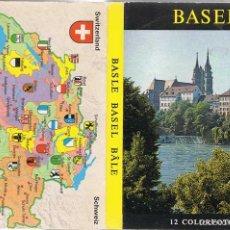Postales: LIBRO DE 12 POSTALES DE BASEL, SUIZA. Lote 58348223
